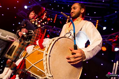 Bagpipers With Dhol 4