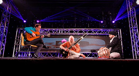 Sitar Tabla and Guitar