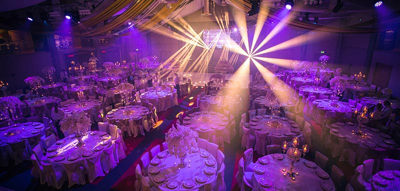wedding lighting and effects